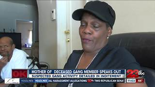 Mother of deceased gang member speaks out - Video