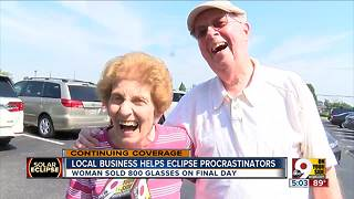 Local business helps eclipse procrastinators - Video