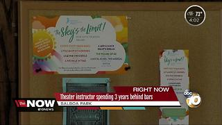 Theater instructor spending 3 years behind bars - Video