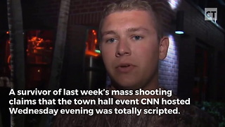 Florida Shooting Survivor Calls Out CNN For Scripted Questions - Video