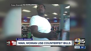 Suspects try to use counterfeit bills at Casa Grande store - Video