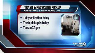 Holiday trash & recycling pickup in Tucson - Video