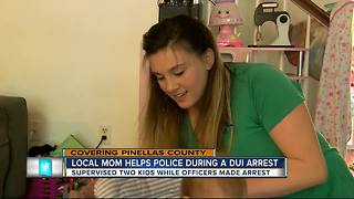 Local mom helps Clearwater Police care for kids during a DUI arrest - Video