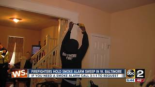 Firefighters fan out across Baltimore City for smoke detector sweep Saturday - Video