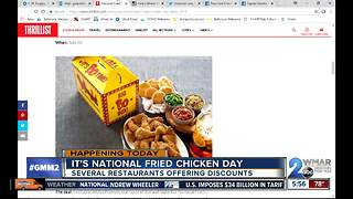National Fried Chicken Day cooks up deals