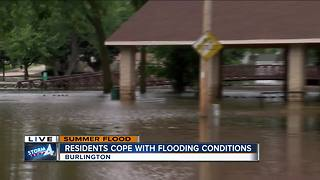 Burlington residents still dealing with floods - Video