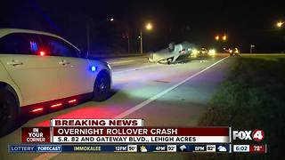 Rollover crash in Lehigh Acres Tuesday morning - Video