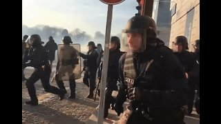 Riot Police Respond to Protest in Paris