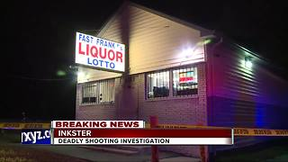 Deadly shooting investigation at Inkster liquor store - Video