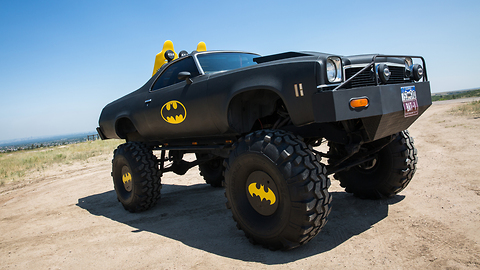 Holy Cow! The Batmobile On 44-Inch Wheels | RIDICULOUS RIDES