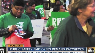 Public safety employees say payroll system isn't working - Video