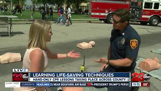 Hands-only CPR training taking place across Kern County
