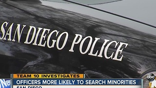 Study shows San Diego police officers more likely to search blacks, Hispanics during traffic stops - Video