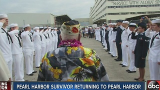 Pearl Harbor survivor returning to Pearl Harbor
