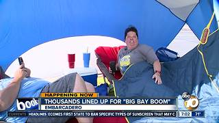 Families claim spots hours before Big Bay Boom - Video