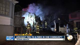 Arsonist tied to 6 fires in Ocean Beach - Video