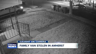 Caught on camera: Amherst family's van stolen from driveway