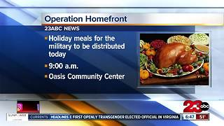 Free holiday meals to military families - Video
