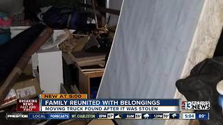 Family reunited with stolen moving truck - Video