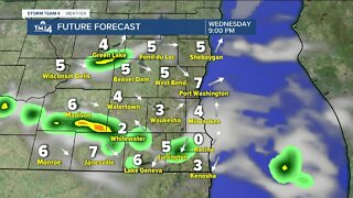 Passing showers this evening, afternoon thunderstorms tomorrow