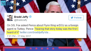 New Report Claims Pence Was Never Informed About Flynn Probe - Video