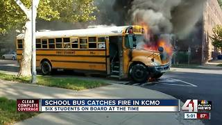 KCPS school bus completely charred in fire