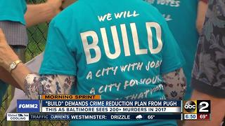 BUILD organization demands crime reduction plan from Mayor Pugh - Video