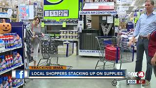 Local shoppers stack up on hurricane supplies - Video