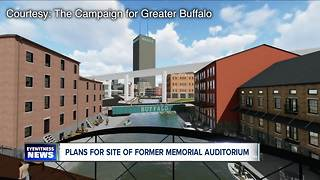 Plans for site of former memorial aud