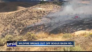 Officials responding to fire near Bogus Basin Road