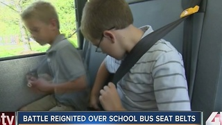Battle reignited over school bus seat belts
