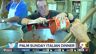 Hundreds of gallons of sauce, thousands of raviolis at Sacred Heart Palm Sunday dinner - Video