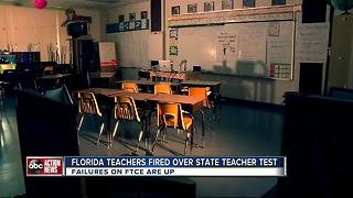 Hundreds of FL teachers fired over state test they keep failing - Video