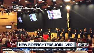 New firefighters join LVFR - Video