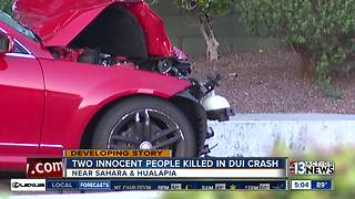 UPDATE: Two identified in deadly crash near Hualapai, Sahara - Video