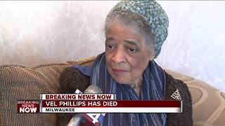Milwaukee trailblazer Vel Phillips passes away at 94 - Video