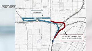 Another ramp closure scheduled this week for Project Neon in Las Vegas - Video