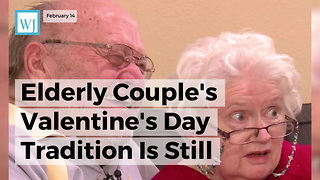 Elderly Couple's Valentine's Day Tradition Is Still Going Strong After 39 Years