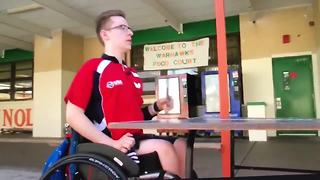 Paralyzed athlete has gold-medal dreams | Digital Short - Video