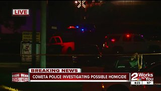 Coweta Police investigating a homicide near downtown