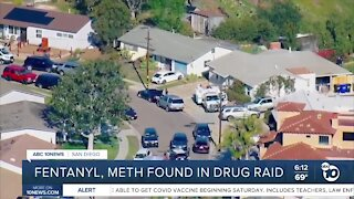 Fentanyl, meth found in Clairemont drug raid