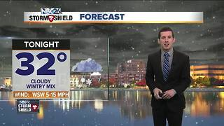 Wintry mix develops for tonight - Video