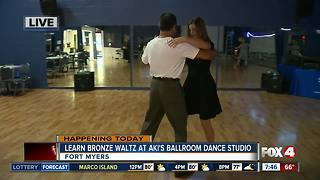 Aki's Ballroom Dance studio teaches the Bronze Waltz - 7:30 am live report - Video
