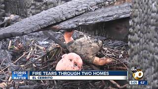 Fire rips through two homes in El Cerrito - Video