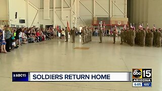 Families welcome Arizona National Guard soldiers home
