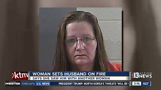 Woman sets husband on fire in Kentucky - Video