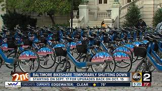 Baltimore Bike Share temporarily shutting down