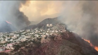 California's Holy Fire Spreads Above Lake Elsinore - Video