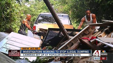 KCPD looking for men recorded illegally dumping