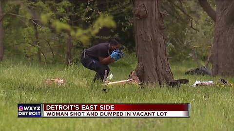 Woman shot, dumped in vacant lot on Detroit's east side